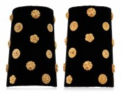 LOT 28_UNSIGNED CHANEL PAIR OF FABRIC AND LEATHER CUFFSJEWEL HAPPY FASHIONDAILYMAG brigitteseguracurator