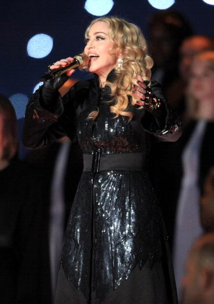 Madonna performs at Superbowl