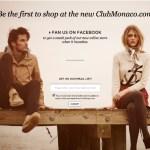 Club Monaco e-commerce