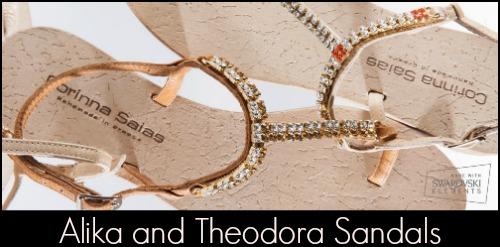 Corinna Saias Aliki and Theodora Sandals