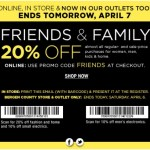 Bloomingdale's Friends and Family Sale March 2013: 20% savings
