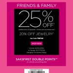 Saks Friends and Family Sale 2013: Save 25%