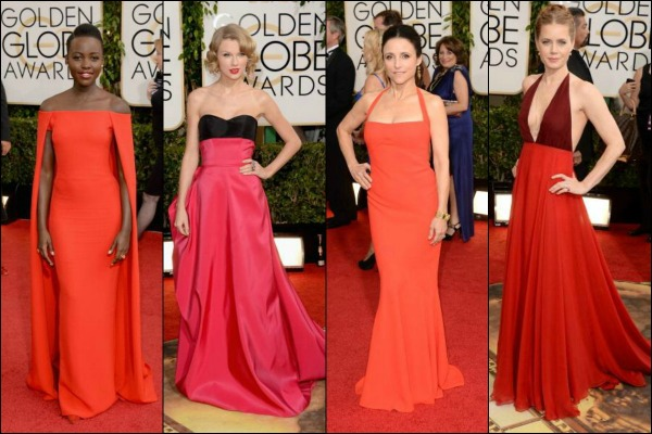 Golden Globes Red Carpet Fashion Red