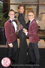 Dean and Dan Caten (DSQUARED²) & Yasmin Warsame @ M.A.C VIVA Glam Fashion Cares 25 Red Carpet
