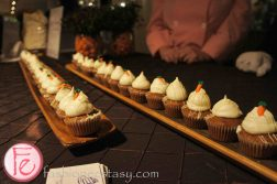 Eat to The Beat 2012 @ Roy Thomson Hall - Carrot Cupcakes with Cream Cheese Icing & White Chocolate Drizzle by Robyn Perlmutar, Pauline's Pasteries