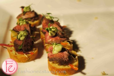 2012 Chocolate Ball: King Edward Hotel: King Edward Tea and Chocolate rubbed Bavette with Chipotle Pepper Slaw