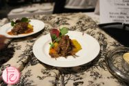 Squash Pure, Short Rib, Beet Chips, Watercress, drizzled with sauce by Chef Cynthia Beretta, Beretta Organic Farms @ 2012 Taste Canada - The Food Writing Awards