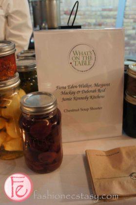 Chestnut soup shooter by Fiona Eden-Walker, Margaret Mackay & Deborah Reid, Jamie Kennedy Kitchens @ 2012 What's On The Table