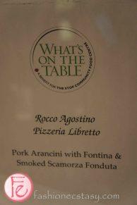 Pork arancini with fontina & smoked scamorza fonduta by Rocco Agostino, Pizzeria Libretto @ 2012 What's On The Table
