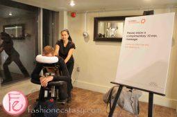Massage station @ Octaspring Dream Lounge Pop Up Event