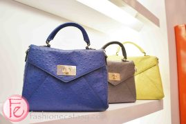 ostrich embossed cowhide leather hand bag - Kate Spade New York Grand Opening Party at Yorkdale Shopping Centre, Toronto