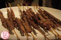 Positive Space One Year Anniversary VIP Event - Lamb skewers by Church Aperitivo Bar