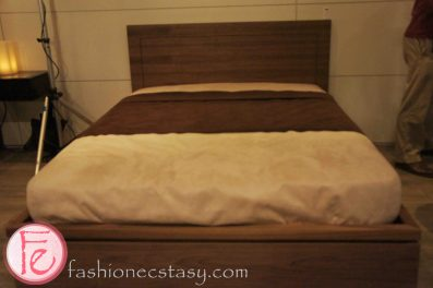 Positive Space One Year Anniversary VIP Event - Condo bed in walnut wood