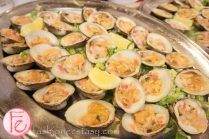 delicious cherry stone clams from the raw bar