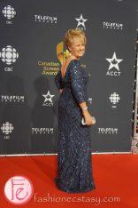 Arlene Dickinson (Dragons' Den) wearing Eli Saab gown, Mark Lash jewelry- Canadian Screen Awards