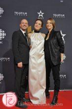 Luc Dery, Evelyn Brochu, Kim McCraw ( cast of Inch' Allah)- Canadian Screen Awards Broadcast Gala