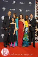 Rachel Mwanza, Kim Nguyen, Pierre Even, Marie-Claude Poulin (cast of Rebelle/War Witch) Canadian Screen Awards Broadcast Gala