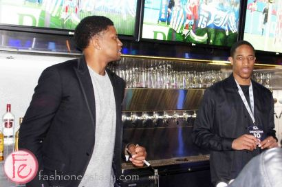 Rudy Gay & DeMar DeRozan at the 2013 Players' Gala with Toronto Raptors, Toronto Maple Leafs, Toronto FC for The MLSE Team Up Foundation