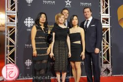 Sarah Polley, Iris Ng, Mark Polley, John Buchan (cast of Stories We Tell) - Canadian Screen Awards Broadcast Gala