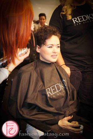 2013 Fall Winter World MasterCard Fashion Week Back Stage Hairstyle Trend