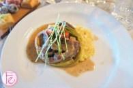 Carni- Osso buco (bone marrow) with black peppercorn Cremolata and risotto Milanese - Osteria dei Ganzi Italian Restaurant Opening & Media Preview Party