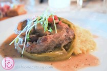 Carni- Osso buco (bone marrow) with black peppercorn Cremolata and risotto Milanese
