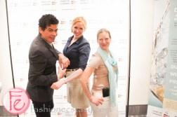 Dion, German Wine queen - Julia Bertram, Lisa Ulrich at German Wine Fair Riesling & Co. World Tour