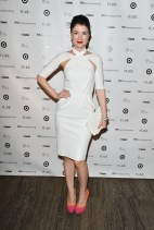 Gabrielle Miller (Corner Gas) at TFI new labels gala 2013