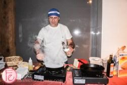 flaming cheese saganaki with honey lemon ouzo sauce by Kalofagas - Culinary Adventure Co. Season 3 Launch Party