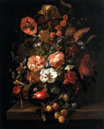 """Still Life with Flowers and Fruit"" by Rachael Ruysch"