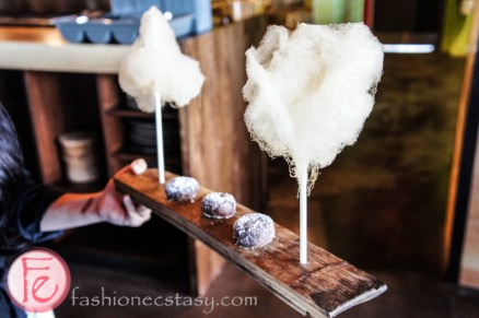 maple cotton candies with chocolate sparkle cookies