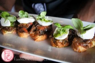FIORE DI LATTE, pesto,caramelized eggplant, peppers _ 17 Origin North Restaurant