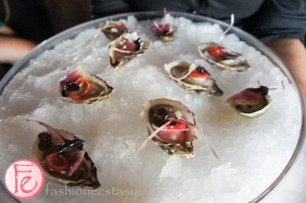Oysters at Origin North Restaurant grand opening soirée