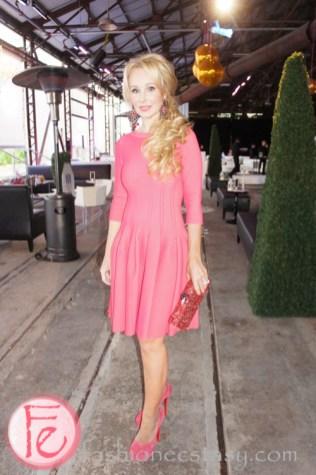 Suzanne Rogers wearing stunnning Alaïa dress