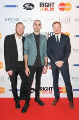 Right to Play Ball 2014 Adam Beck, Simon Allen, Paul Johnston
