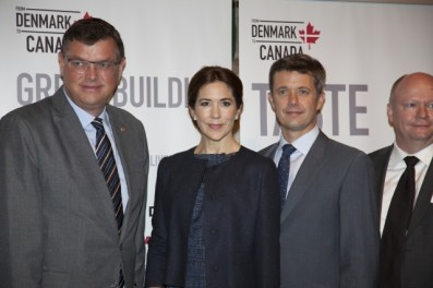 Crown Prince Couple and Danish Minister of Trade