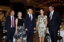 Danish Ambassador & wife, Niels Abrahamsen, THR Crown Prince Couple & Danish Minister of Trade