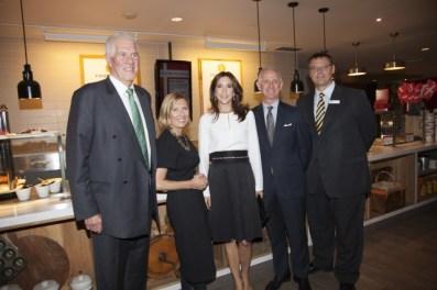 Peter Oliver, Owner, Oliver & Bonacini, Liz Rodbell, President, HBC, HRH Crown Princess
