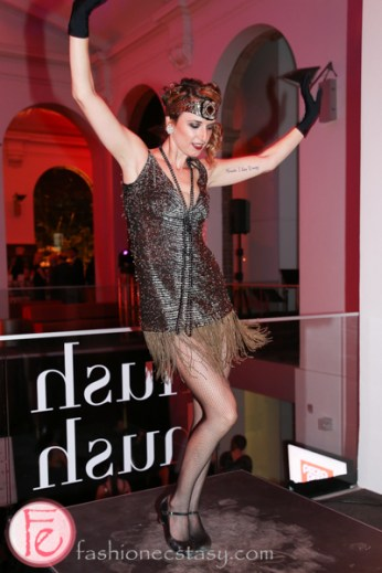 flapper dancer at Hush Hush Bash 2014 Speakeasy toronto public library