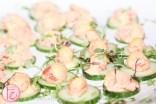 lobster paste on cucumber Hush Hush Bash 2014