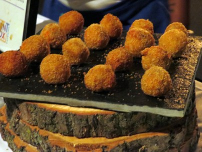 Paint Box Catering & Bistro Jerk Chicken Arancini at eat to the beat 2014