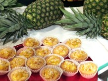 The Cake Lady Carmelized Pineapple and Coconut Cream Tarts at eat to the beat 2014