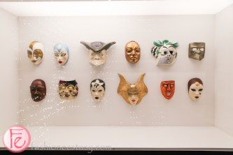 masks at stanley kubrick exhibition at tiff bell lightbox