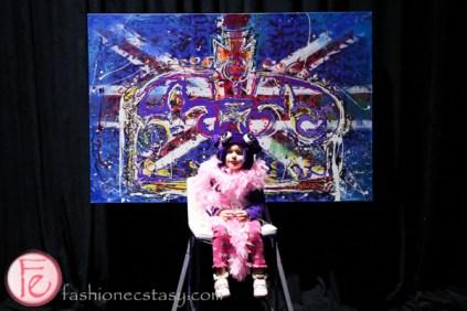 Jessica Gorlicky jessgo the sound of art exhibit kid with pink fur