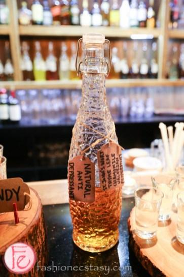 schnitzel hub's natural anti depressant house-infused vodka
