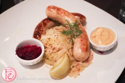 oktoberfest sausage schnitzel hub's