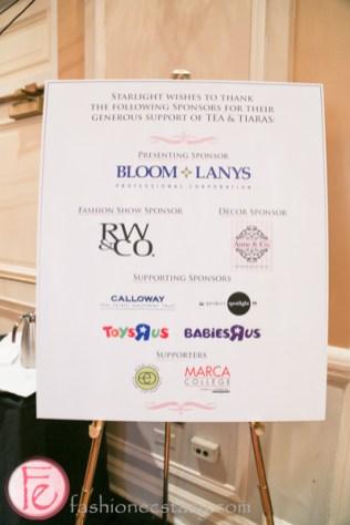 tea and tiaras starlight children's foundation sponsors