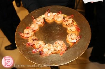 shrimp hors d'oeuvres at clga disco gala 2014