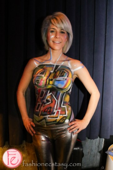 body painting ffwd ad ball 2015-graffiti