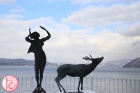 sculpture at Lake Toya